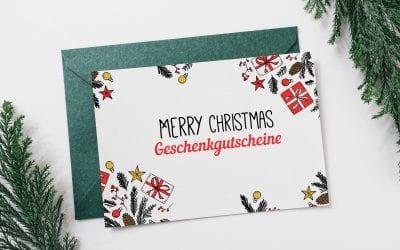 Merry Christmas Geschenkgutscheine